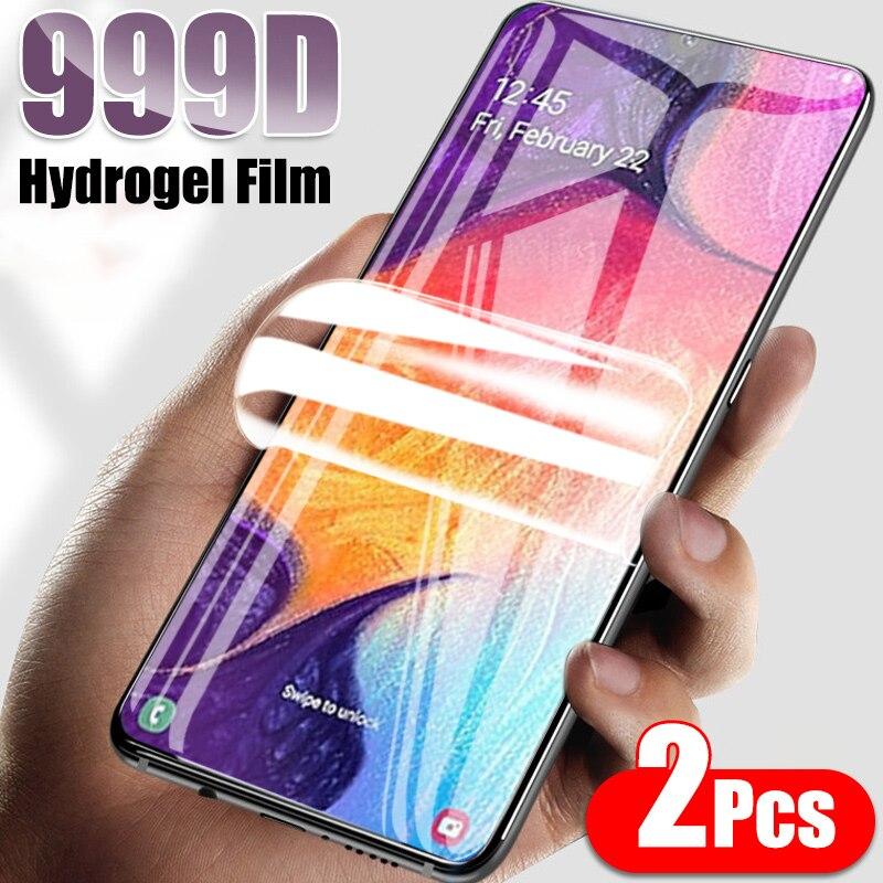 2 шт. Гидрогелевая пленка не стекло для Samsung Galaxy A51 A50 A71 A30 A40 A70 A10 Защитная пленка для экрана A21S A30S A20 A60 A80 A90 мягкая пленка