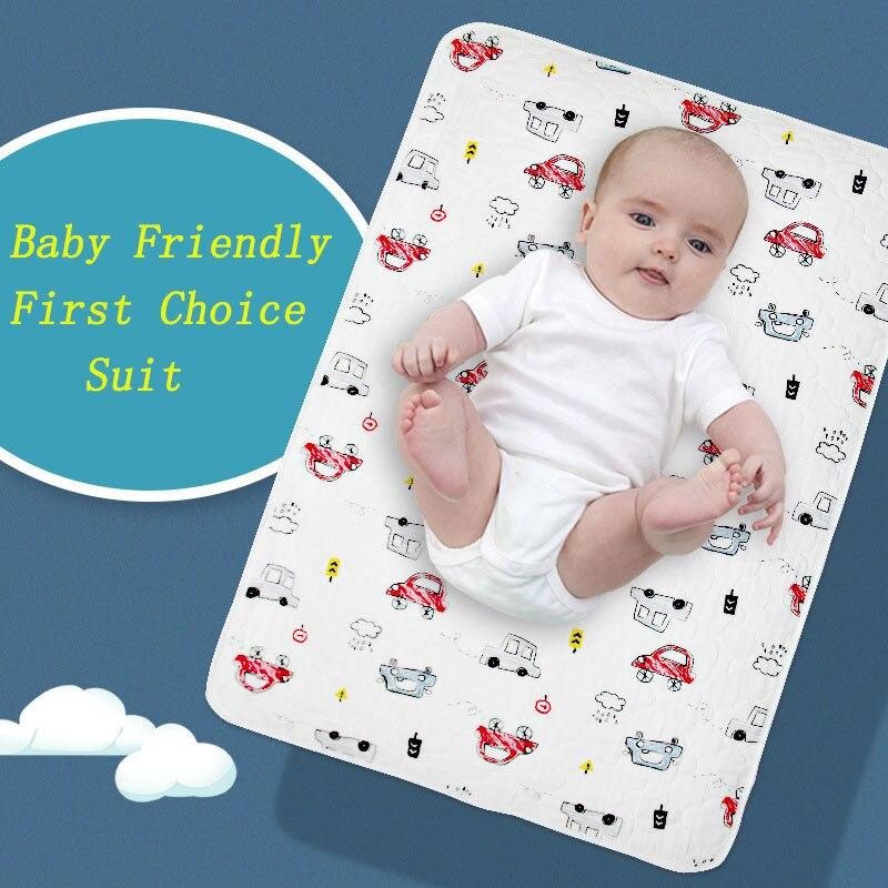 Cotton Waterproof Pad Hot Diaphragm New Baby Infant Diaper Nappy Mat Waterproof Bedding Changing Pad Cute Newborn Pad AXA014