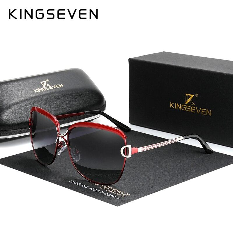KINGSEVEN 2020 mujeres gafas de sol de marca de la lente polarizada sol redondo gafas mariposa Oculos Feminino