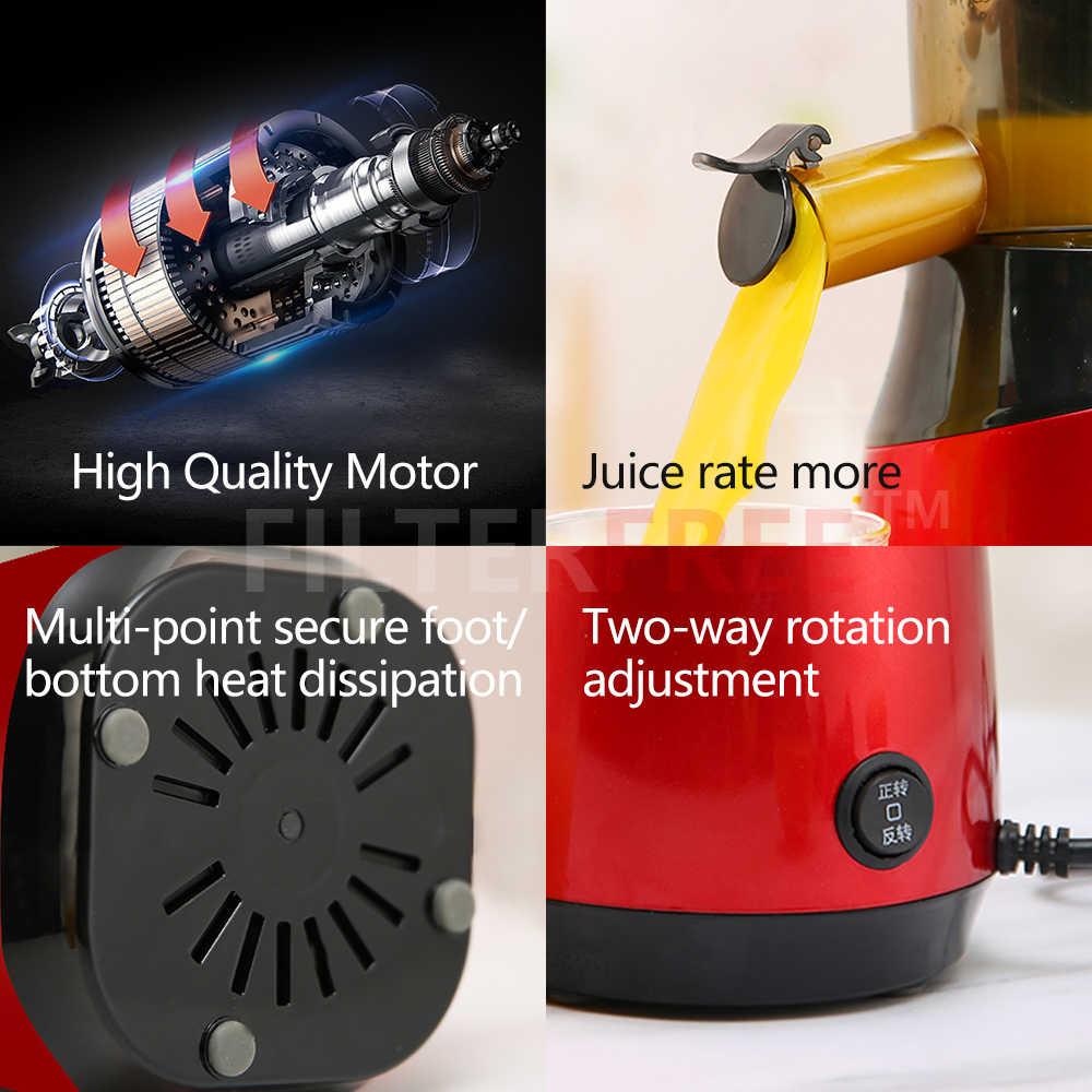 MIUI Lento spremiagrumi Multi-segmento elicoidale masticare estrattore di succo di Mini-FilterFree di Compatto ed Economico