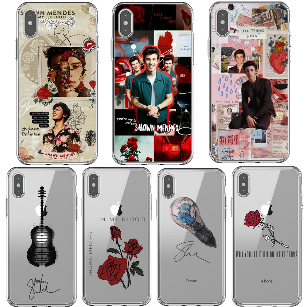 Canada songwriter shawn mendes In my blood Magcon Phone Case For iPhone X 5 5S SE 6 6S Plus 7 8 Plus XS MAX XR Soft Cover Coque