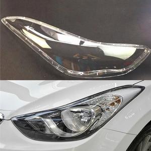 Image 1 - רכב פנס עדשה עבור יונדאי Elantra 2012 2013 2014 2015 2016 פנס עדשת החלפת רכב אוטומטי מעטפת כיסוי