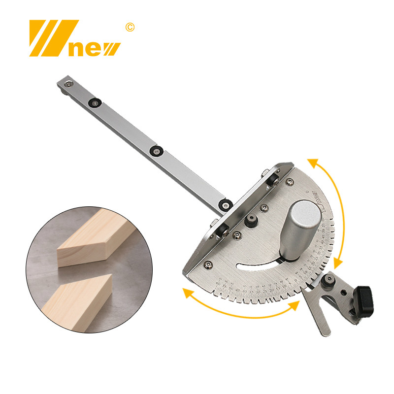 Woodworking Angle Miter Gauge Tenon Fence T Track Push Ruler Guide Router/Saw Table 450mm Mortise Tenon And Chute Stopper