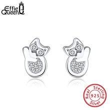 Женские серьги гвоздики effie queen из чистого серебра s925