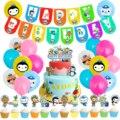 Восемь ягод воздушный шар с тортом баннер на день рождения восемь ягодиц наконечники песо квази Детский праздник украшение для вечерние ри...