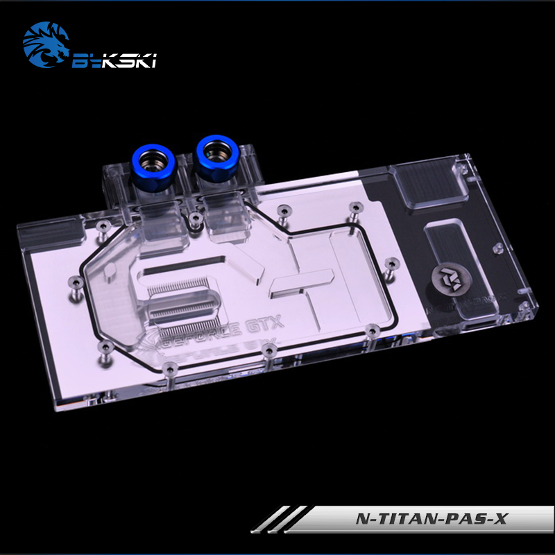 Bykski GPU cooler for Founders GTX TITAN X-Pascal/XP GTX 1080TI 1080 1070 Graphics Card Water Cooling Block N-TITAN-PAS-X image