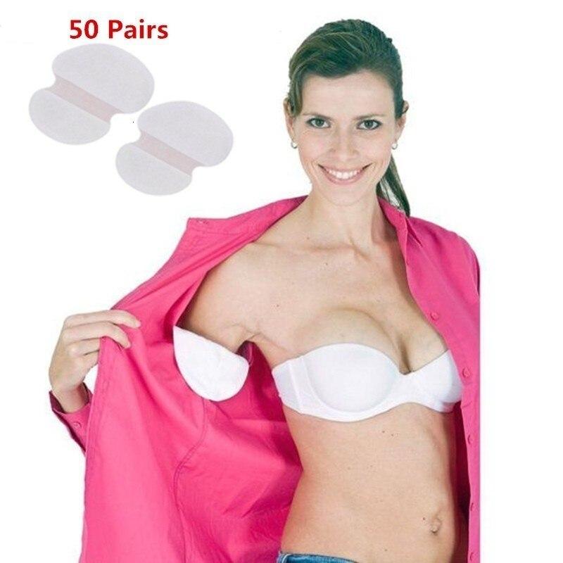 50PCS/25Paris Disposable Absorbing Underarm Sweat Guard Pads Deodorant Armpit Sheet Dress Clothing Shield Sweat Pads Drop Ship