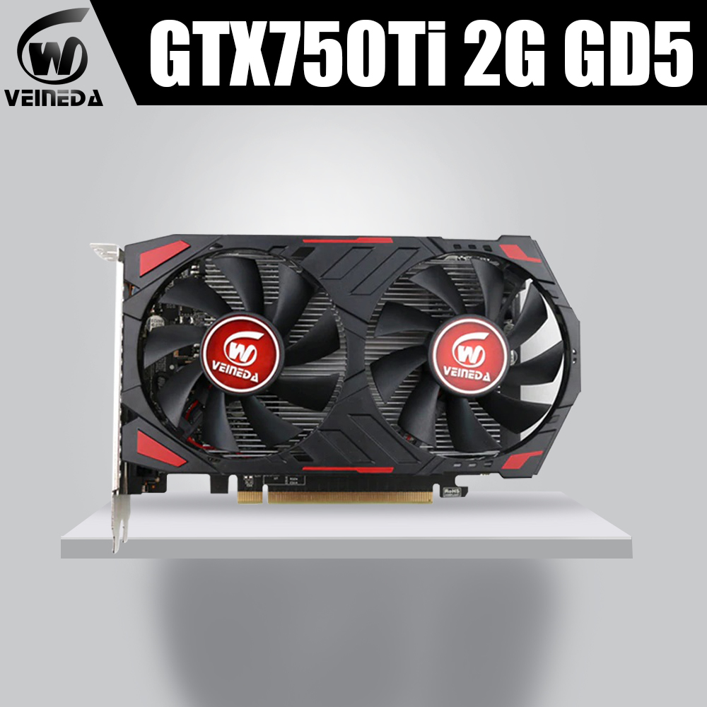 Veineda Video Card GTX750Ti 2GB Graphics Cards Map For nVIDIA Geforce GTX750Ti 2GB GDDR5 128Bit Hdmi Videocard Cards image