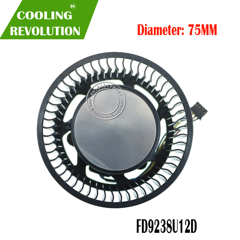 FD9238U12D 12V 1.2A 75mm 37 * 37 * 37mm 4PIN Graphics Card Fan For ASUS TURBO GTX970 OC 4GD5 Graphics Card Cooler Cooling Fan