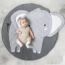 Постельное белье для новорожденных малышей лист слон детские матрасы для детской кроватки хлопок теплый детский коврик для пола игровой коврик украшение комнаты tapete infantil