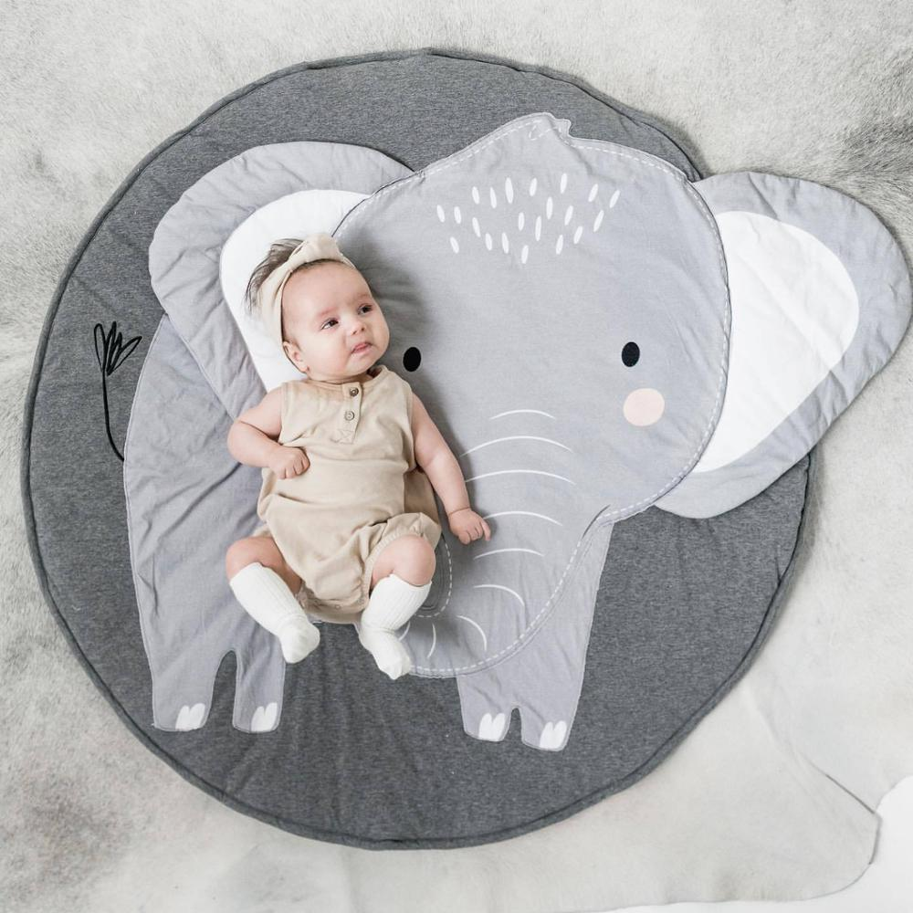 Newborn Baby Bedding Sheet Elephant Baby Crib Sheets Cotton Warm Kids Floor Mat Playing Carpet Room Decoration Tapete Infantil