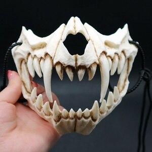 Image 2 - Маска для косплея на Хэллоуин, смола, дракон, Бог, Яша, маска, 2D, ужас, животное, тема, вечерние, животные, череп, маска для лица, маскарадная страшная маска