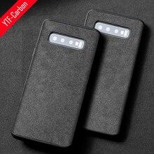 איטלקי אלקנטרה מקרה לssamsung Galaxy S20 Ultra S20 S10 S9 S8 בתוספת יוקרה מלאכותי עור מקרי טלפון Note10 בתוספת 10 9