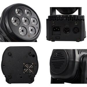 Image 3 - LED Wash 7x18W RGBWA+UV/7x12W RGBW Moving Head Lighting 6in1 BGBWA+UV For Disco DJ KTV 12/16DMX Channels LED Stage Dj Light