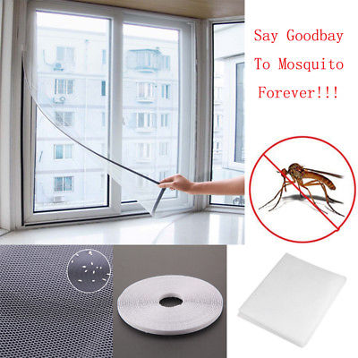 Home Summer Mosquito Protect Screen Net Enjoy Fresh  DIY Adhesive Anti-Mosquito Fly Bug Insect Curtain Mesh Window Screen
