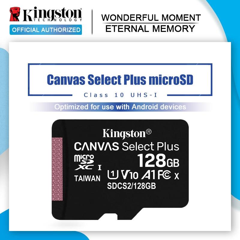 Kingston Canvas Chose Plus, карта памяти microSD, 16 ГБ, 32 ГБ, 64 ГБ, Class10, TF/SD карта, 128 ГБ, 256 ГБ, 512 ГБ, для смартфона, с рисунком в виде карты памяти, в виде карты па...