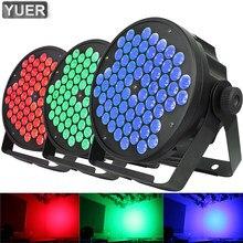 LED Par ışıkları 66X3W DJ LED RGB Par işık yüksek güç yıkama disko ışık DMX denetleyici Dj etkisi parti ışığı müzik led disko