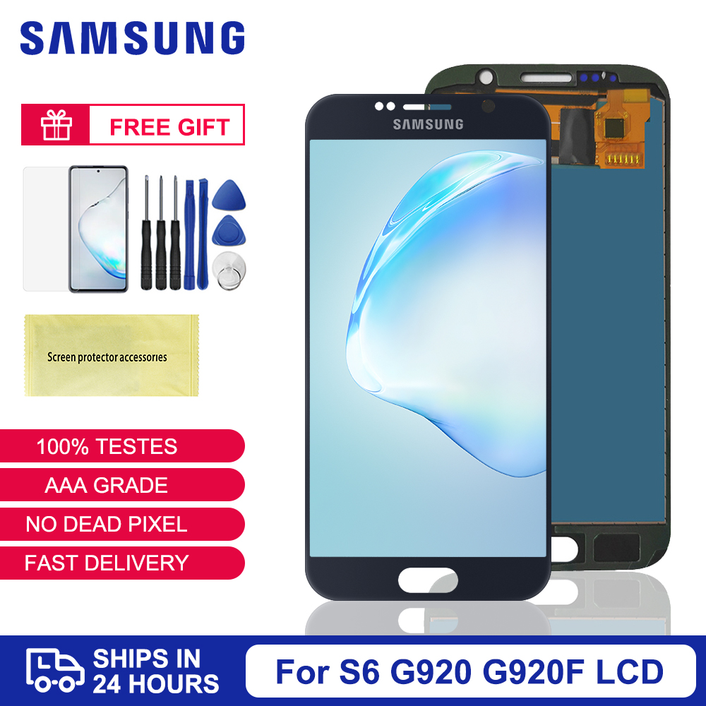 <font><b>S6</b></font> LCD Tested TFT For <font><b>Samsung</b></font> Galaxy <font><b>S6</b></font> LCD Dispaly Replacement G920 <font><b>SM</b></font>-<font><b>G920F</b></font> <font><b>G920F</b></font> G920FD Touch Screen Digitizer Assembly Parts image