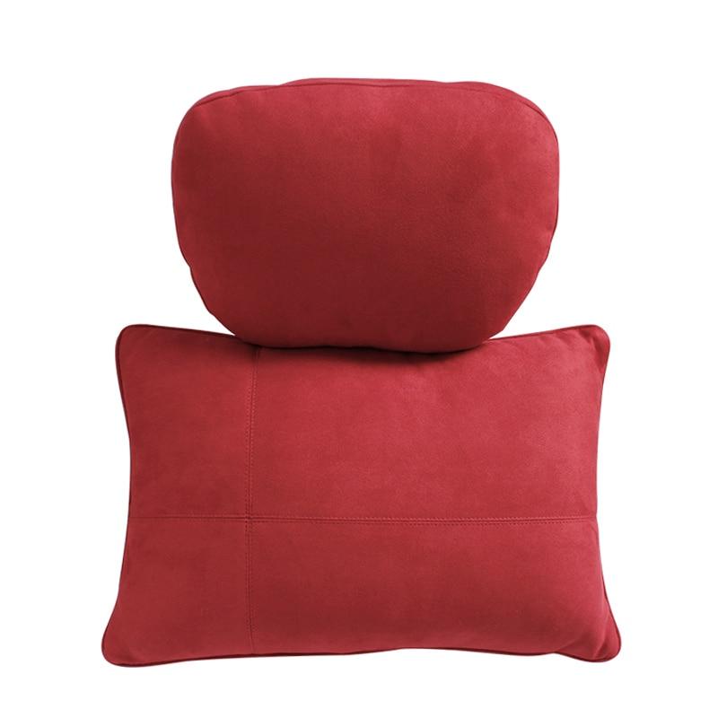 2pcs Car Headrest  Design Ultra Soft Pillow Suede Fabric Black/Beige/Brown/RED For Mercedes Benz Pillow Accessories