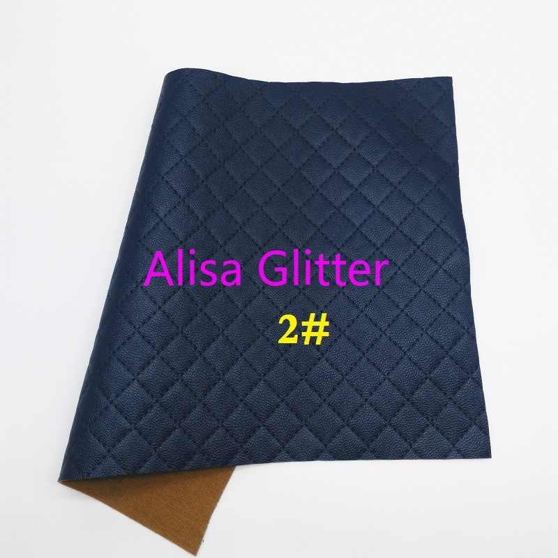 1 CHIẾC A4 KÍCH THƯỚC 21X29cm Alisa Lấp Lánh Nổi Plaids Giả Da Chất Liệu Vải vải Da tổng hợp Tờ cho Nơ DIY F25B
