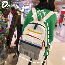 цены Casual Backpacks for Teenagers Girls Soft Shoulder School Bags Large Capacity Female Backpack Multipocket mochila feminina