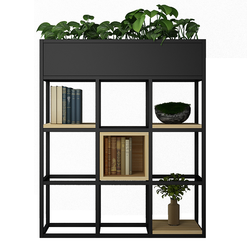 Northern Europe  Iron Art Flower Rack Shelf Restaurant  Cafe Partition Flower Rack Screen Office Partition Flower Airs