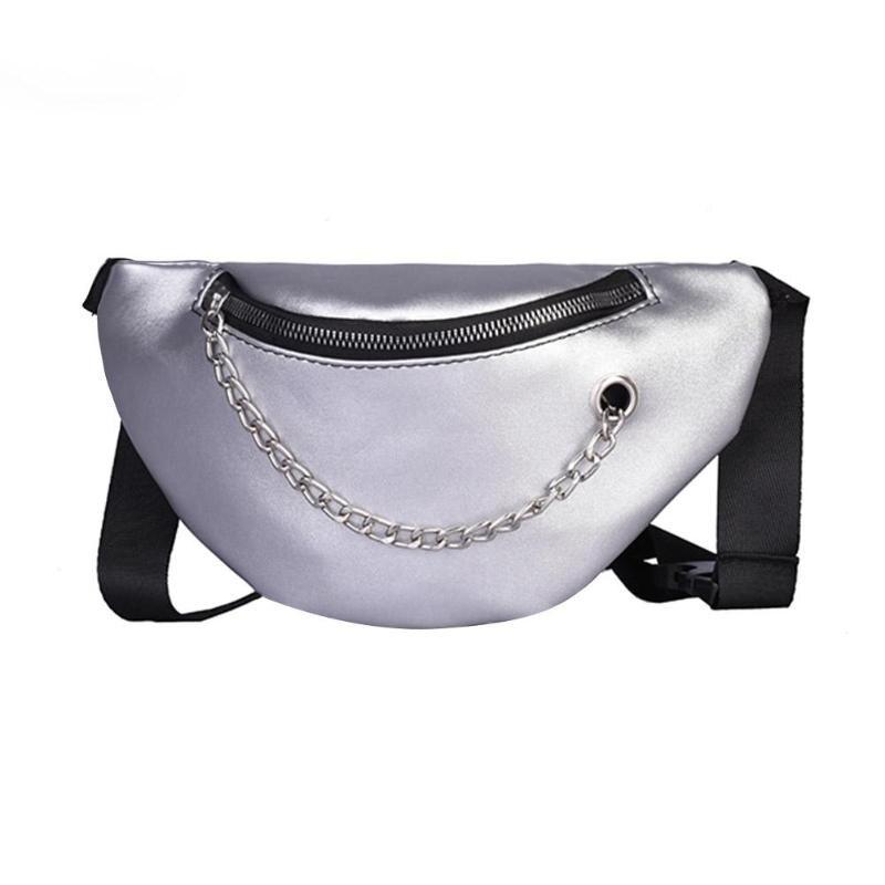 BEAU-Women Waist Bags Fanny Pack Glitter Belt Chest Bag Small Shoulder Bag Lady Belly Belt Bags Waist Pack Purse