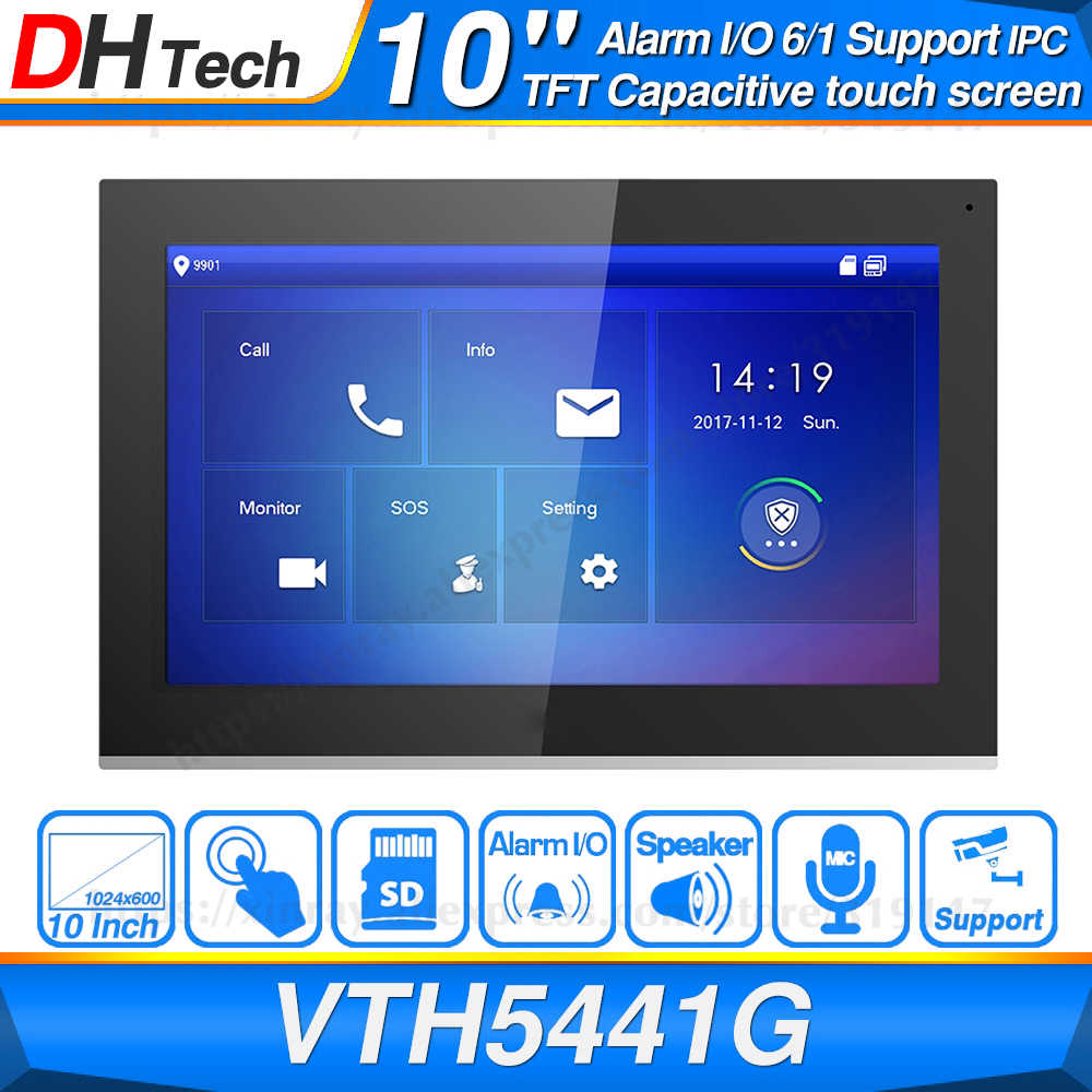 "Dahua Originele VTH5441G Indoor Monitor 10 ""1024*600 Touch Screen Kleur Ip Video Intercom Ipc Ondersteuning Alarm Vervang VTH1660CH"