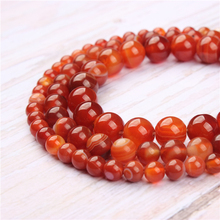 Red Striped Agate Natural Stone Beads For Jewelry Making Diy Bracelet Necklace 4/6/8/10/12 mm Wholesale Strand