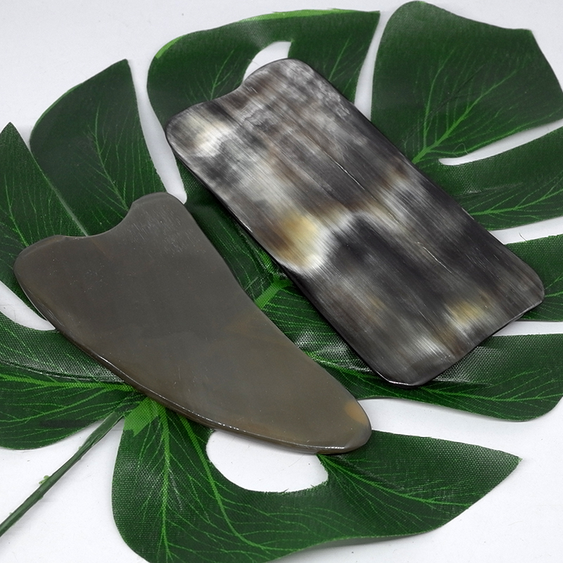 Tontin Big Size 100% Ox Horn Beauty Healthcare Scraping Guasha Massage Plate