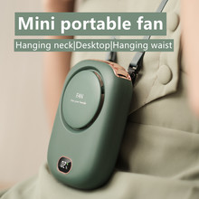 Portable Mini Fan 5V USB Rechargeable Fans Outdoor Standing Silent Neck Fan Hand Desk Small Air Cooler Fan Neckband Fan Cooling