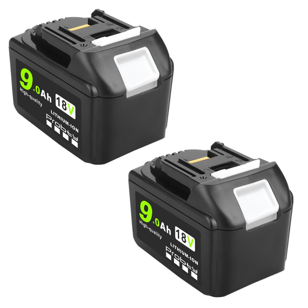 For Makita 18V 3.0/6.0/9.0Ah Rechargeable Power Tools Battery with LED Li-ion Replacement LXT BL1860B BL1860 BL1850