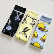Spring Autumn Novelty Funny Socks High Quality Cute Harajuku Cartoon Men Animal Pattern Casual Cotton G0823