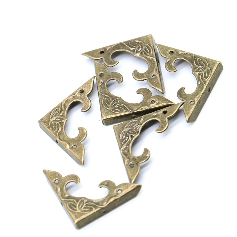 30Pcs 30mm X 30mm Book Scrapbooking Albums Corner Bracket Antique Decorative Protectors Crafts For Furniture Hardware