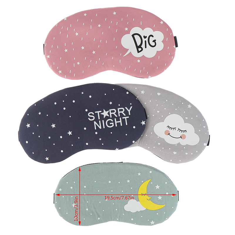 Travel Eye Band Sleeping Aid Kids Blindfold Sleeping Mask Creative Funny Eyepatch Sleep Mask Cute Cotton Cartoon Eye Cover