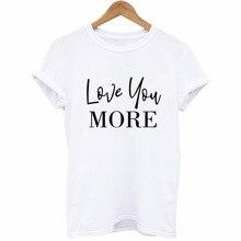 Tops Camisetas Mujer LOVE YOU Letter Heart Print Couple T Shirt Women Short Sleeve O Neck Loose Tshirt Summer Women Tee Shirt цены онлайн