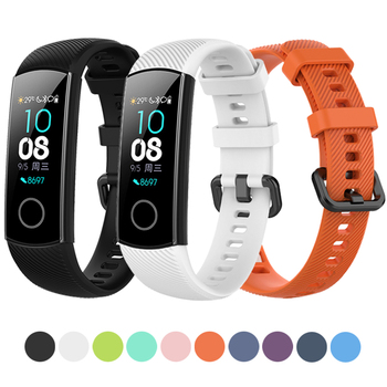 Laforuta Honor Band 5 Strap Silicone Watchband For Huawei Honor Band 4 Women Men Bracelet Fitness Loop Smart Watch Wrist Strap laforuta silicone band for galaxy fit e strap rubber sport wrist band for samsung r375 loop women men fitness bracelet 2019