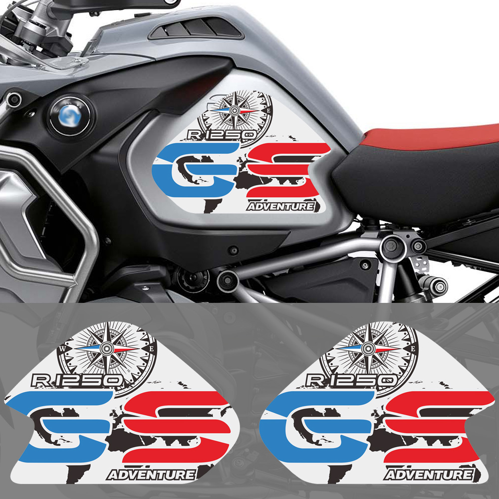 Motorcycle Stickers Decals Body Gas Fuel Oil Tank Pad Protector Fit For BMW R1250GS R1250 1250 GS ADV Adventure