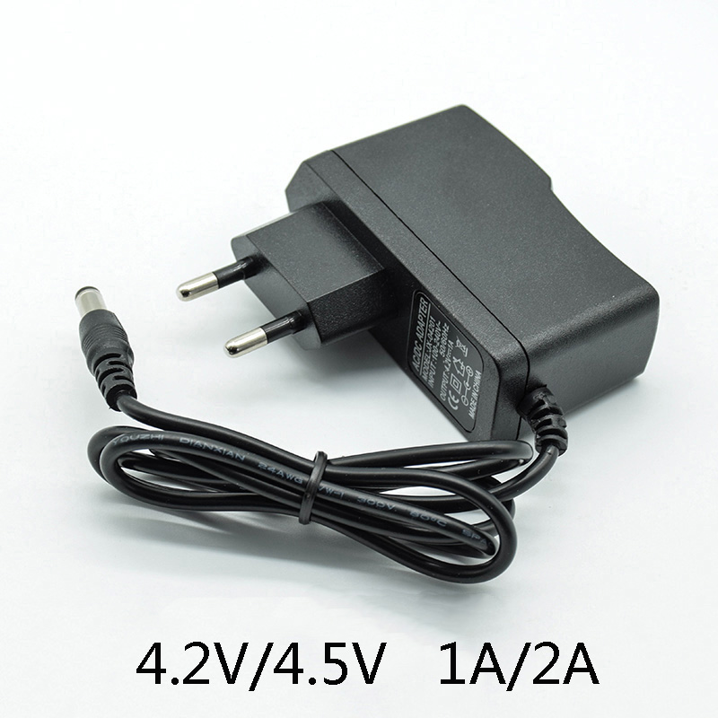 <font><b>4.5V</b></font> 1A 100-240V AC Converter <font><b>Adapter</b></font> <font><b>DC</b></font> 4.2V 1A 4.2V 2A 1000/2000 mA Power Supply Charger EU Plug 5.5mm * 2.5mm(2.1mm) AC to <font><b>DC</b></font> image