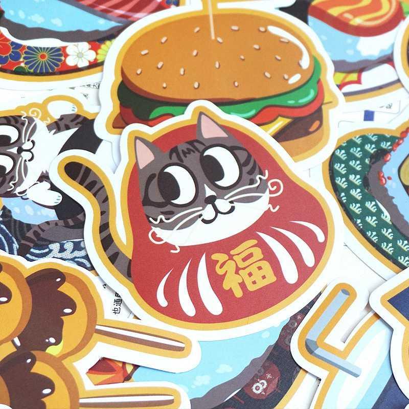 NOVA 25Pcs kawaii Dos Desenhos Animados Pacote de Comida de Gato Adesivos Mala Skate HD À Prova D' Água Adesivos Crianças Presentes do Brinquedo Rabisco Clássico