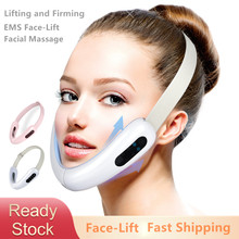 RF Microcurrent VFace Shaping Facial Vibration Massager Micro Current Face Lift Slimmer Devices V Shape Double Chin Firm Lift Up
