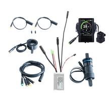 شحن مجاني 36V 350W دراجة كهربائية مجموعة التحكم e قطع تبديل الدراجات الهوائية ebike تحويل مع مستشعر شدة العزم 850C شاشة الكريستال السائل