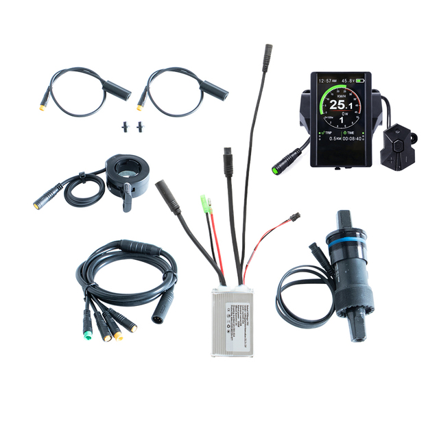 Free shipping 36V 350W electric bike controller kit  e bicycle spare parts ebike conversion with torque sensor 850C LCD display