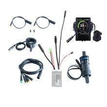 Ücretsiz kargo 36V 350W elektrikli bisiklet denetleyicisi kiti e bisiklet yedek parçaları ebike dönüşüm tork sensörü ile 850C LCD ekran