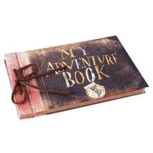 Handmade DIY Album Paste Vintage Tether Album My Adventure Book Up Family Scrapbook Photo Album