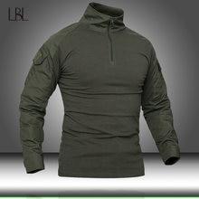 T-Shirt de Camouflage à manches longues pour homme, tenue de Combat vert militaire, de chasse et d'extérieur