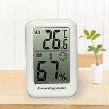 Hygrometer Table-Clocks Electronic-Temperature-Humidity-Meters-Gauge Digital Mini Desktop