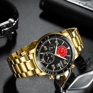 Image 4 - NIBOSI Mens Watches 2020 New Blue Top Brand Luxury Men Sports Chronograph Watch Men Quartz Watches Clock Relogio Masculino