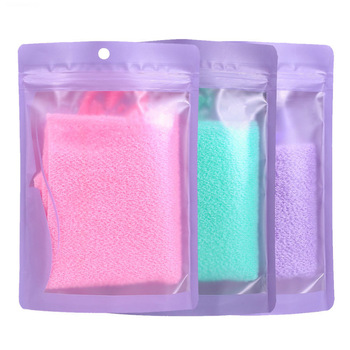 1pc Stretchable Body Clean Exfoliating Neck Back Scrubber Shower Bath Cloth Tool Washcloth 1