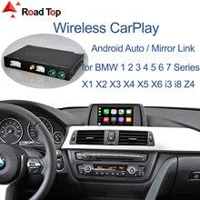 اللاسلكية CarPlay ل BMW CIC نظام 1 2 3 4 5 7 سلسلة  X1 X3 X4 X5 X6 F20 F21 F30 F31 F10 F11 F07 GT F01 F02 E84 F25 F26 E70 E71
